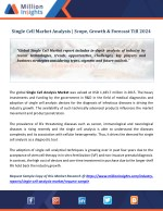 Single Cell Market Analysis | Scope, Growth & Forecast Till 2024