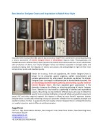 Best Interior Designer Doors for Home and Office