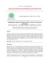 Anthelmintic and anti-microbial activity of some novel chalcone derivatives