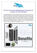 Set Up An Asset Management Company in Georgia & Gain Benefits