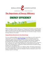 The Importance of Energy Efficiency