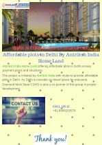 Affordable plots in Delhi By Antriksh India Home Land