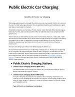 Benefits of Electric Car Charging