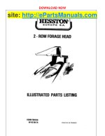 Hesston 2 Row Forage Head Parts Manual for Tractors