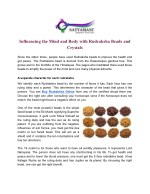 Influencing the Mind and Body with Rudraksha Beads and Crystals