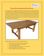 Decorate Your House With Beautiful Farm Furniture - Global Event Supply
