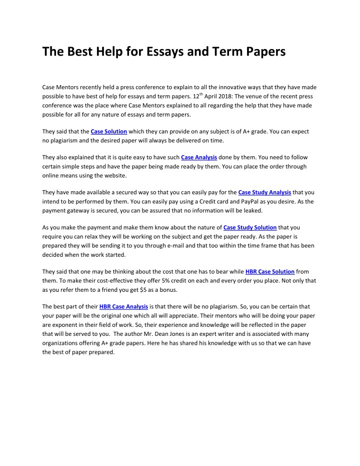 ppt   the best help for essays and term papers powerpoint  the best help for essays and term papers n
