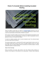 Insulated Roofing: Explained