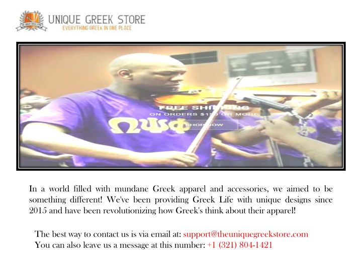 PPT - Greek Fraternity Store  Clothing, Apparel, Accessories