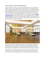 School cleaning – tips for an effective clean up