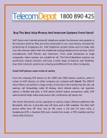 Buy The Best Voip Phones And Intercom Systems From Fanvil