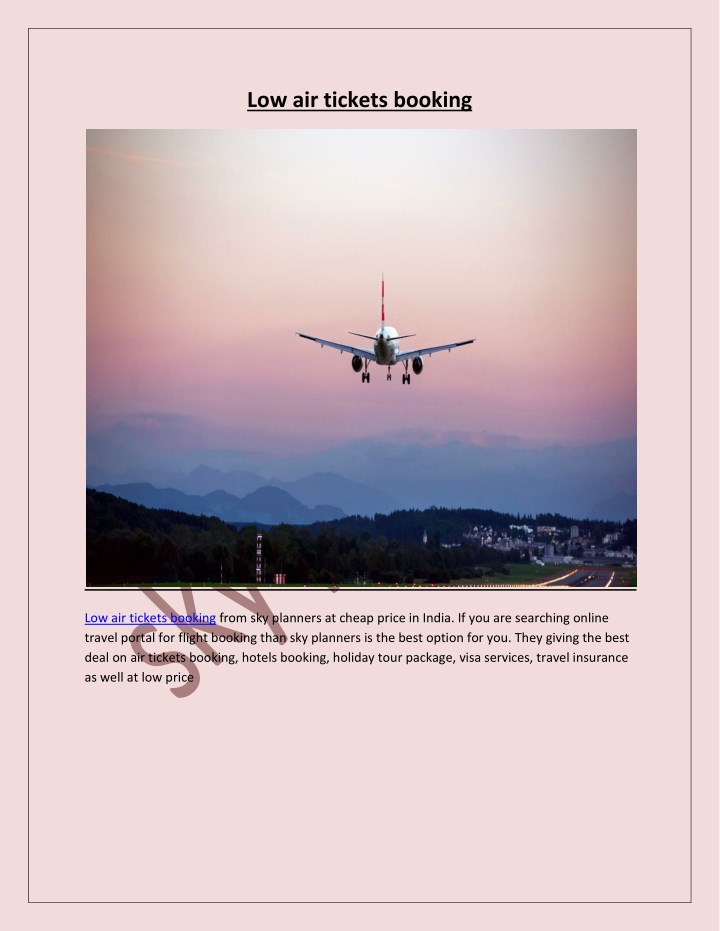 low air tickets booking n.