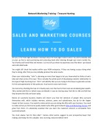 Sales and marketing courses