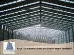 Avail Top Industrial Sheds and Showrooms in Faridabad