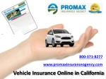 Vehicle Insurance Online in California