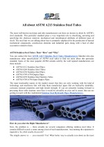All about ASTM A213 Stainless Steel Tubes