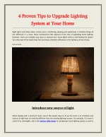 4 Proven Tips to Upgrade Lighting System at Your Home