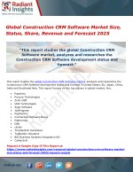 Global Construction CRM Software Market Size, Status, Share, Revenue and Forecast 2025
