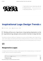 Inspirational logo design trends of 2018 creative gaga