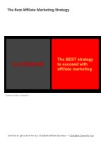 Best Affiliate Marketing Strategy