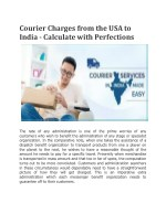 Courier charges from the usa to india calculate with perfections