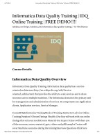 IDQ Training WIth Live Projects And Course Certification