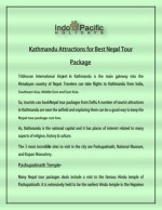 Kathmandu Attractions for Best Nepal Tour Package