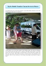 Tip for shuttle transfers cancun service in mexico