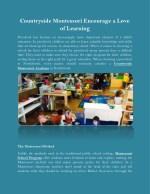 Countryside Montessori Encourage a Love of Learning
