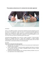 The purpose and process of a commercial real estate appraisal