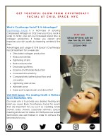 Get Youthful Glow from Cryotherapy Facial at Chill Space, NYC