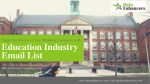 Education Industry Email List | Education Industry Mailing List