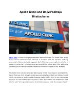 Apollo Clinic and Dr. M.Padmaja Bhattacharya