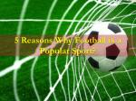 5 Reasons Why Football is a Popular Sport ?