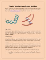 Tips for Wearing Long Rubber Necklace