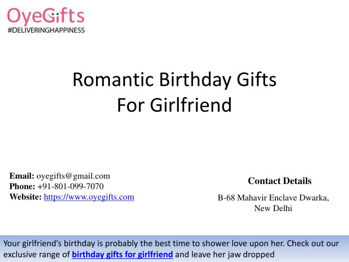 romantic birthday gifts for girlfriend n.