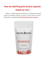 How Are Red Maeng Da Kratom Capsules Useful For You?