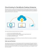 Cloud Hosting for QuickBooks Desktop Enterprise