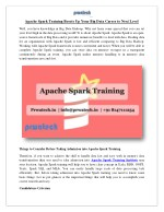 Apache Spark Training Boosts Up Your Big Data Career to Next Level