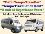 Book Tempo Traveller in Delhi NCR