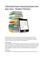 Download these interesting books from play store - Readers Reviews