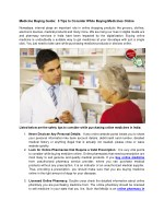 Medicine Buying Guide: 5 Tips to Consider While Buying Medicines Online