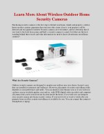 Learn More About Wireless Outdoor Home Security Cameras