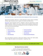 Benchmark Services - Laboratory Relocation & Equipment Delivery Specialists