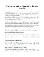 Cost of Pacemaker Surgery in delhi, india