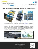 High Quality Swedish Rubber Suitable for Fish Pond Liner