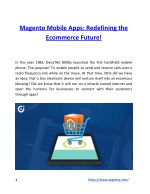 Magento Mobile Apps: Redefining the Ecommerce Future!