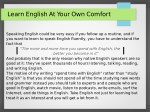 Interesting tips to learn English