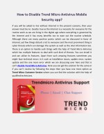 How to Disable Trend Micro Antivirus Mobile Security app?