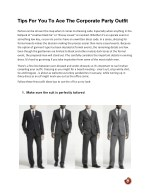 Tips For You To Ace The Corporate Party Outfit